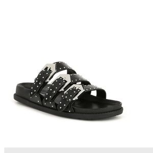 Gianni bini Axtin studded 3-band buckle sandals